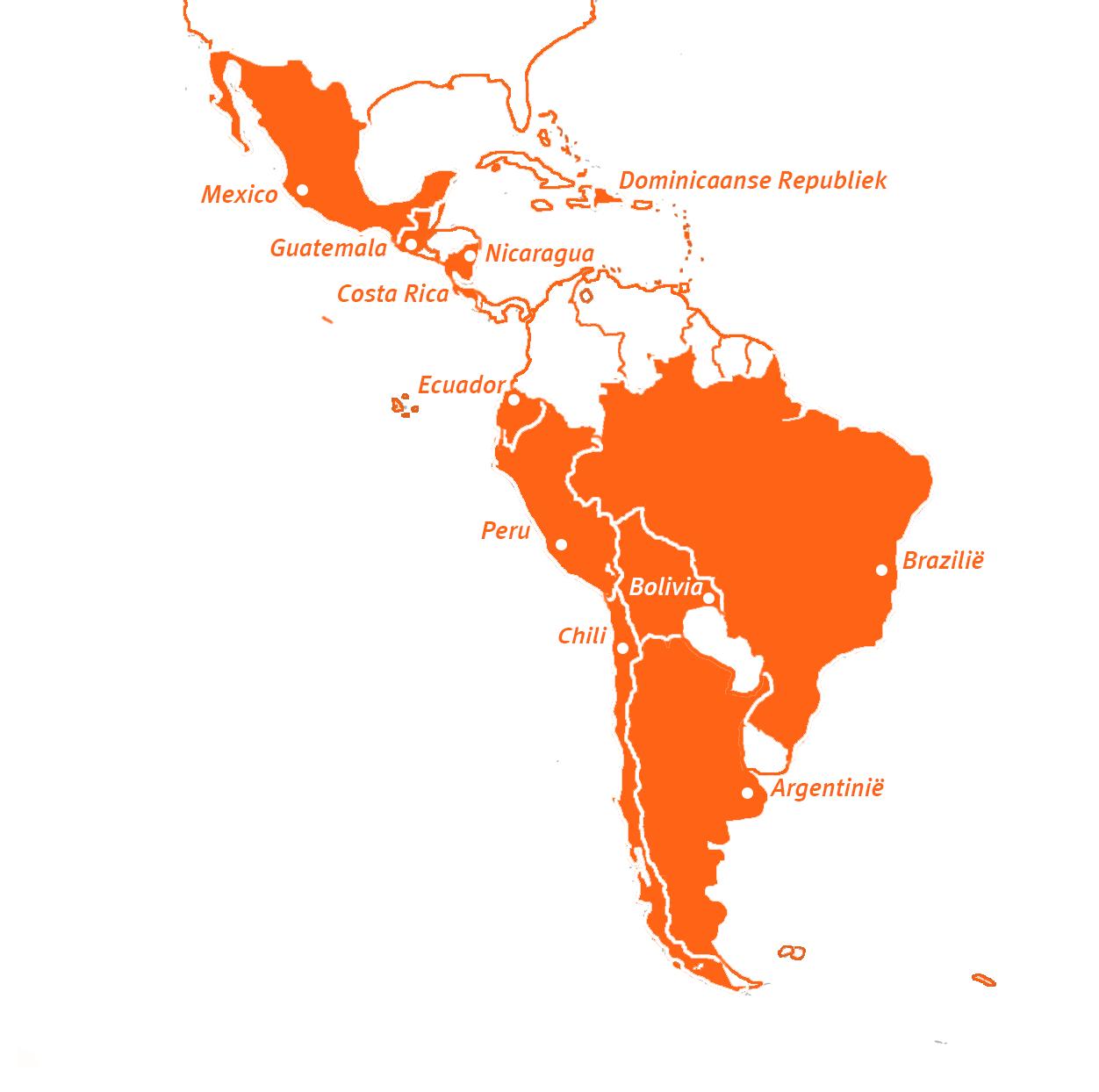 Travel Active - Latijns-Amerika - Kaart