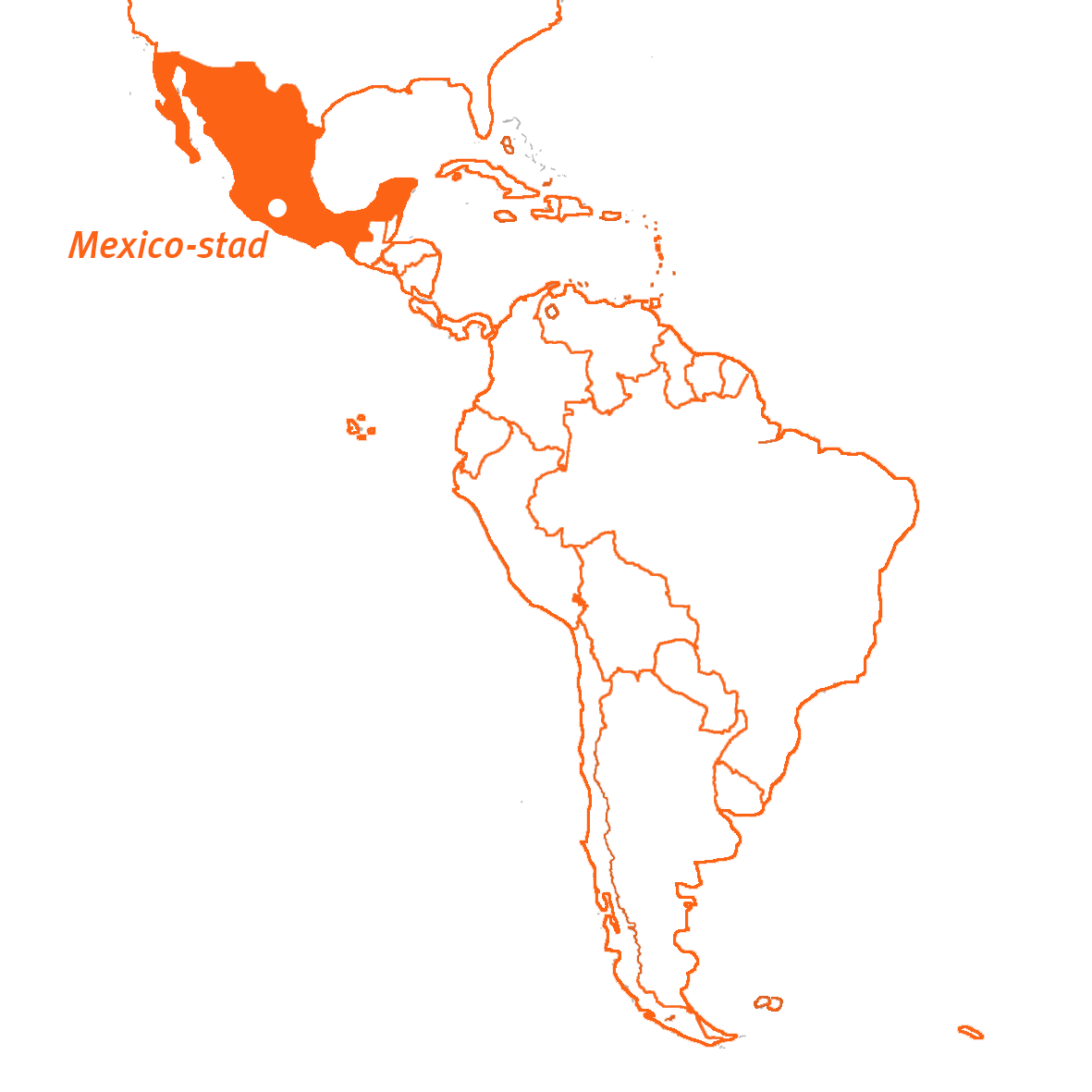 Travel Active - Mexico - kaart