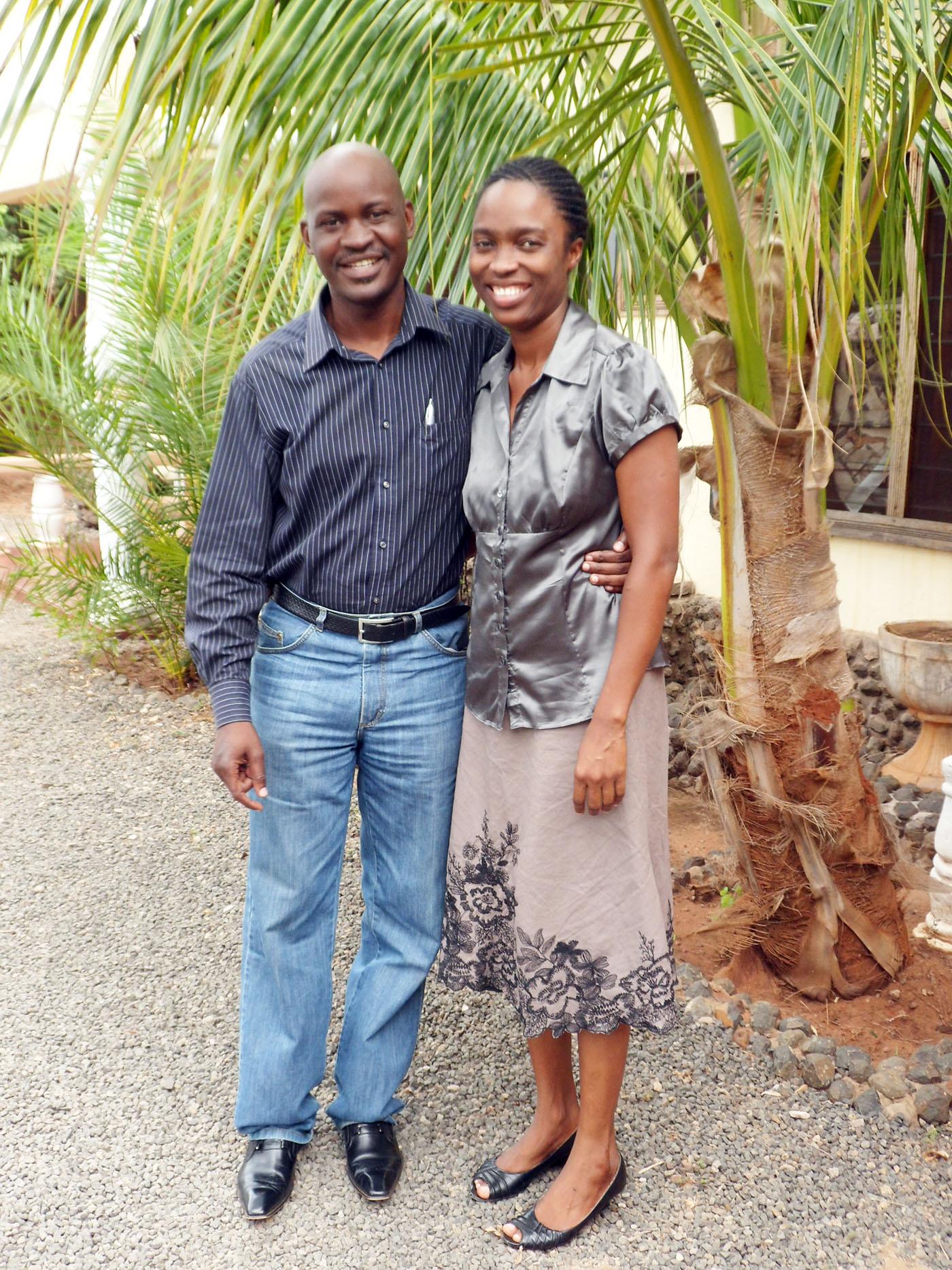 Vrijwililgerswerk - samenwerkingspartners - zambia rabeccah en kennedy